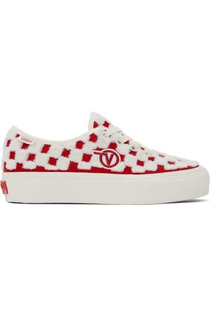 Vans Red & White Authentic One Piece VLT LX Sneakers