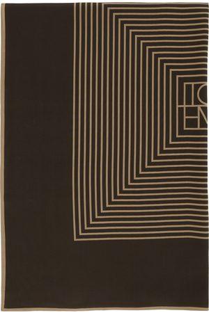 Totême Kvinder Tørklæder - Brown Silk Venezia Scarf