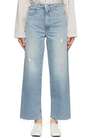 Totême Kvinder Bootcut - Blue Flare Jeans