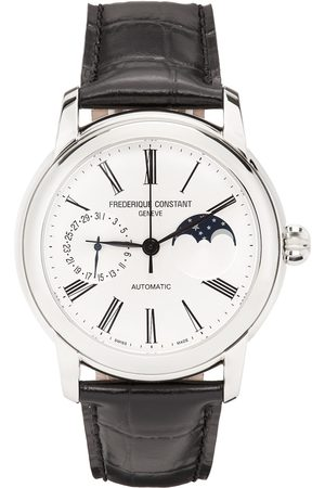Frederique Constant Black & Silver Classic Moonphase Watch