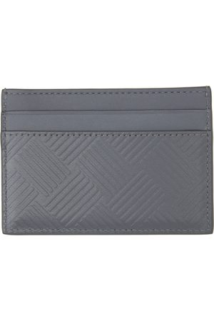 Bottega Veneta Grey Embossed Credit Card Holder
