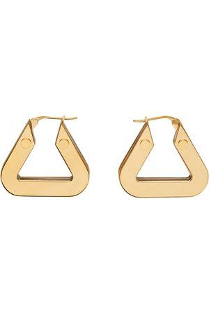 Bottega Veneta Gold Thick Triangle Hoop Earrings