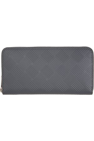 Bottega Veneta Mænd Punge - Grey Embossed Zip Around Wallet