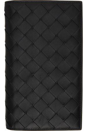 Bottega Veneta Black Detachable Pocket Long Wallet