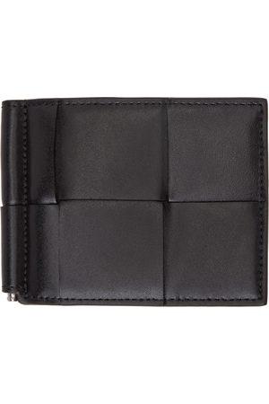 Bottega Veneta Black Intrecciato Bill Clip Bifold Wallet