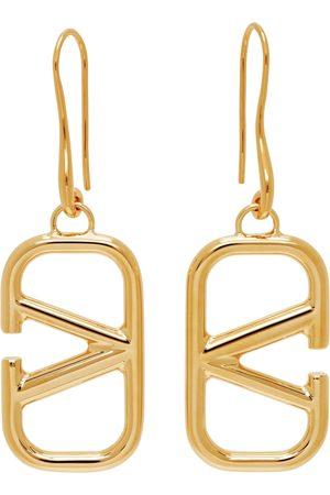 VALENTINO GARAVANI Gold VLogo Pendant Earrings