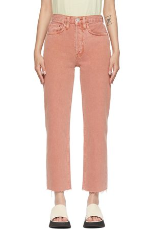 RE/DONE Pink 70s Stove Pipe Jeans
