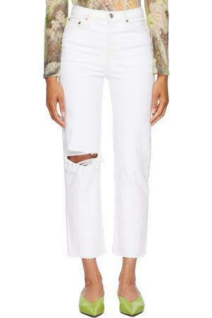 RE/DONE Kvinder Jeans - White 70s Stove Pipe Jeans