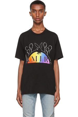 AMIRI Mænd Kortærmede - Black Playboy Edition Rainbow T-Shirt