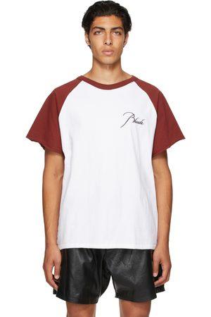Rhude Red & White Raglan Logo T-Shirt