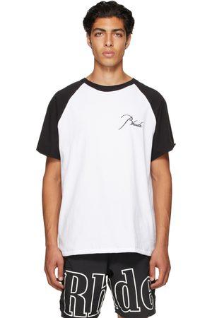 Rhude Black & White Raglan Logo T-Shirt