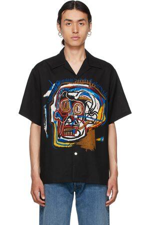 Wacko Maria Black Jean-Michel Basquiat Edition 'Guilty Parties' Short Sleeve Shirt