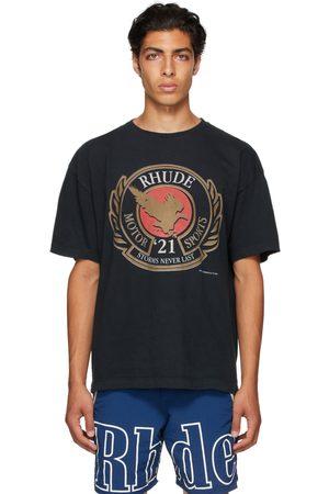 Rhude Black Motor Sports T-Shirt
