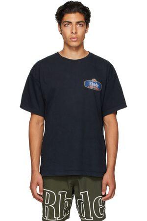 Rhude Black Racing Crest T-Shirt