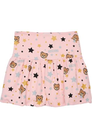 Moschino Kvinder Mønstrede nederdele - All Over Print Cotton Interlock Skirt