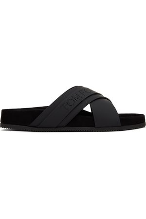 Tom Ford Black Leather Wicklow Sandals