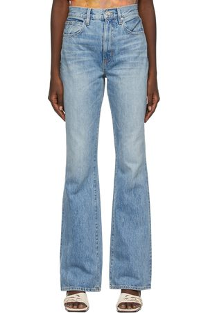 SLVRLAKE Blue Faded Charlotte High Rise Bootcut Jeans
