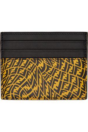 Fendi Yellow & Black FF Vertigo Card Holder