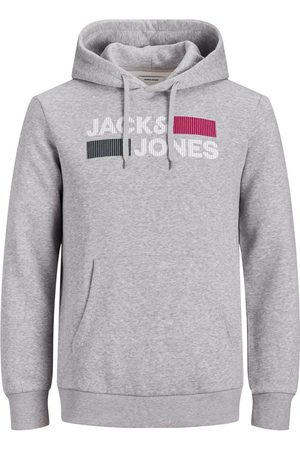 JACK & JONES Mænd Sweatshirts - Basic Logo Plus Size Hoodie Mænd