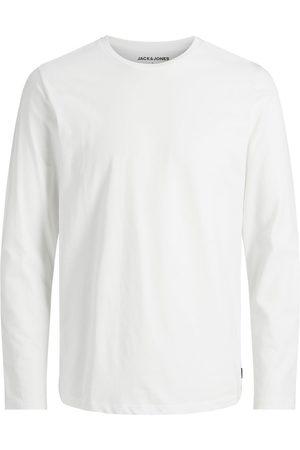 JACK & JONES Mænd Langærmede - Basic Langærmet T-shirt Mænd White