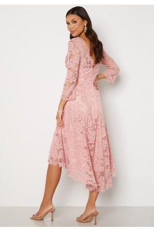 Goddiva Kvinder Festkjoler - Lace High Low Midi Dress Blush