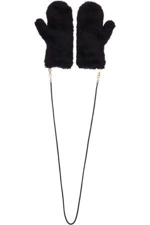 Max Mara Ombrato Fur Effect Gloves W/ Strap