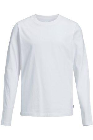 JACK & JONES Drenge Økologisk Bomuld Langærmet T-shirt Mænd White