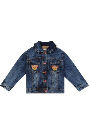 MONNALISA Piger Cowboyjakker - Faux fur-lined denim jacket