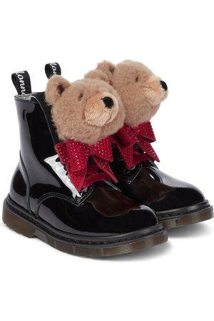 MONNALISA Embellished patent leather boots