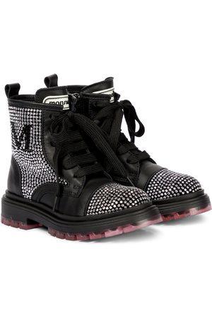 MONNALISA Embellished leather boots
