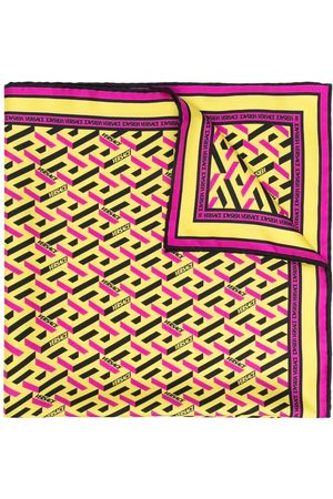VERSACE Tørklæder - Logo-print silk scarf