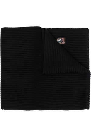 Parajumpers Logo-patch ribbed-knit scarf