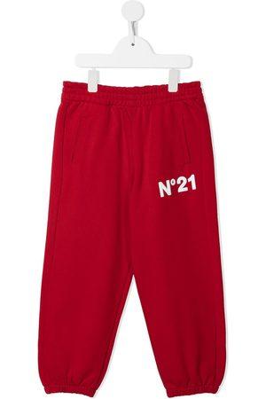 Nº21 Logo-patch track pants