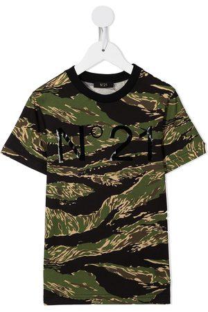 Nº21 Drenge Kortærmede - Camouflage logo-print T-shirt