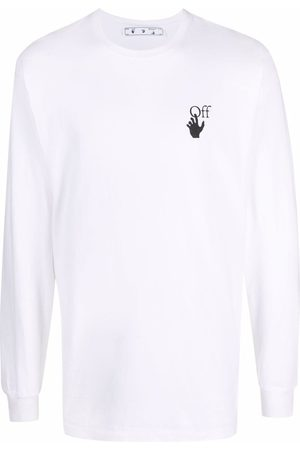 OFF-WHITE Caravaggio-print long-sleeve T-shirt