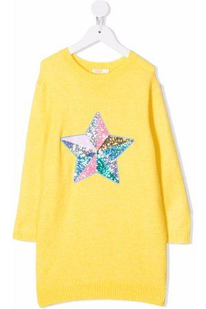Billieblush Piger Kjoler - Sequin-detail knitted dress