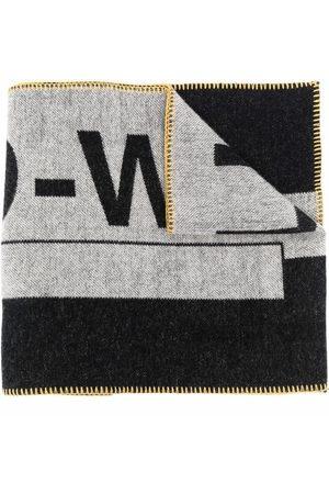 A-cold-wall* Mænd Tørklæder - Contrasting logo-print scarf