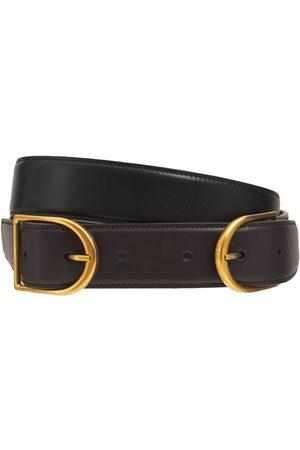 Saint Laurent Kvinder Bælter - Double Buckle Leather Belt