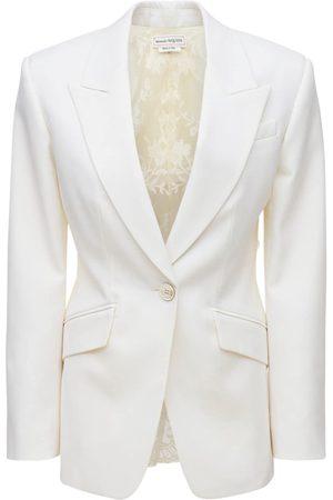 Alexander McQueen Kvinder Blazere - Wool & Lace Classic Blazer