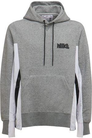 Nike Mænd Sweatshirts - Sacai Nylon & Cotton Hoodie