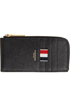 Thom Browne Black Half Zip-Around Card Holder