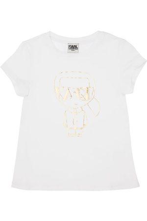 Karl Lagerfeld Piger Kortærmede - Karl Print Organic Cotton Blend T-shirt