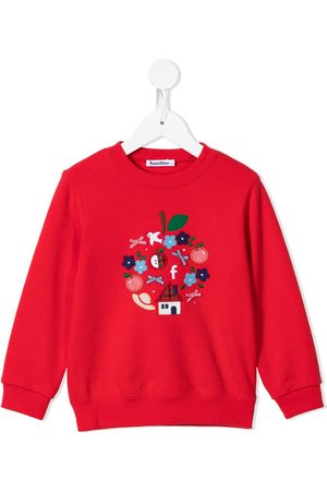 Familiar Piger Sweatshirts - Embroidered motif cotton sweatshirt