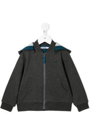 Familiar Drenge Hoodies - Embroidered car zip-up hoodie