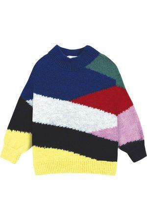 Bobo Choses Piger Strik - Color Block Knitted Jumper