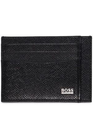 HUGO BOSS Mænd Punge - Logo-plaque leather cardholder
