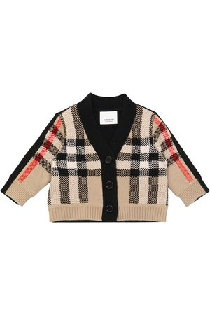 Burberry Baby checked wool and cashmere cardigan