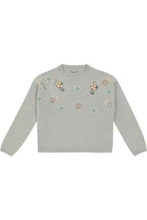 Il gufo Embroidered wool sweater