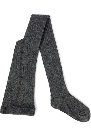 Caramel Piger Tights - Child Rib cotton-blend tights