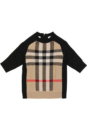 Burberry Baby checked wool and cashmere-blend dress